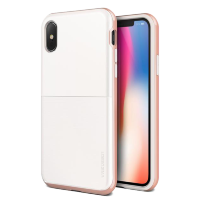 Чехол VRS Design High Pro Shield для iPhone X White/Rose Gold